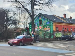 Freistadt Christiania von Außen in Kopenhagen Dänemark