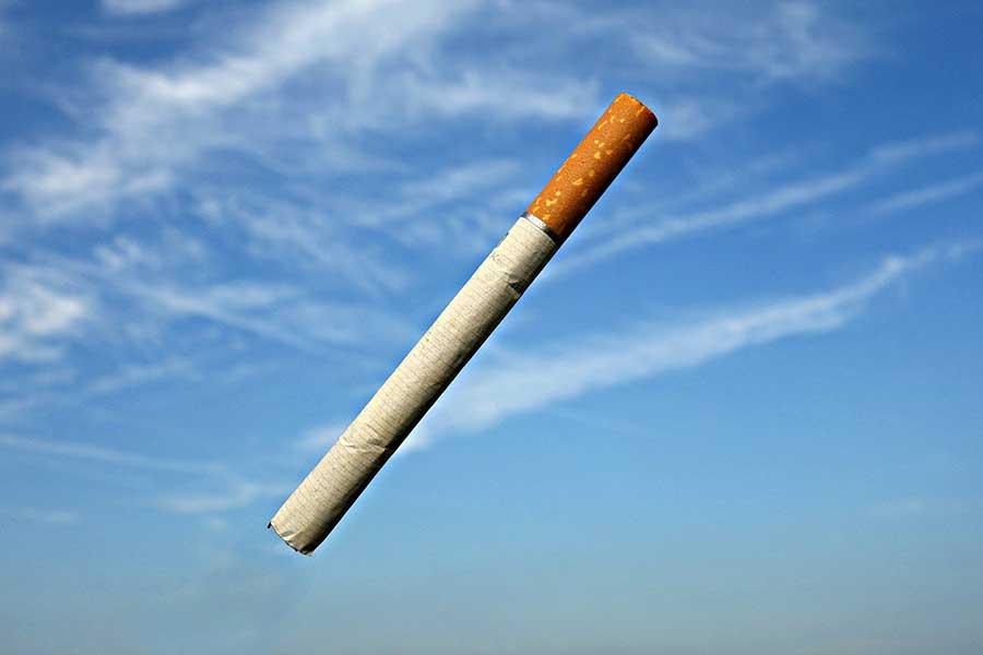 Weg mit der Zigarette