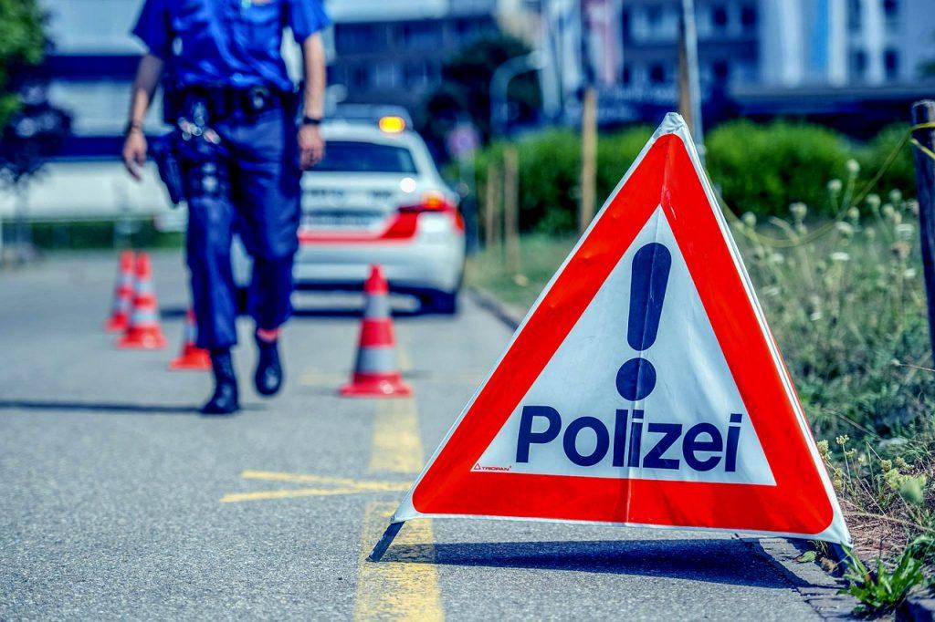 Polizeikontrolle Drogentest